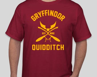Hogwarts House - Gryffindor Quidditch Inspired Shirt - Harry Potter T-Shirt