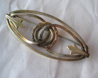 Oval Circle Knot Gold Filled Brooch Vintage Pin