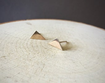 Minimalist Gold Fill Triangle Earrings