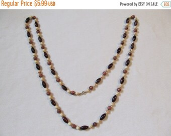 On Sale Plastic Wooden-Look Long Necklace Item K # 1325