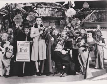Professional Quality Wizard Of Oz 8x10 black & white Dorothy Tin Lollipop Guild