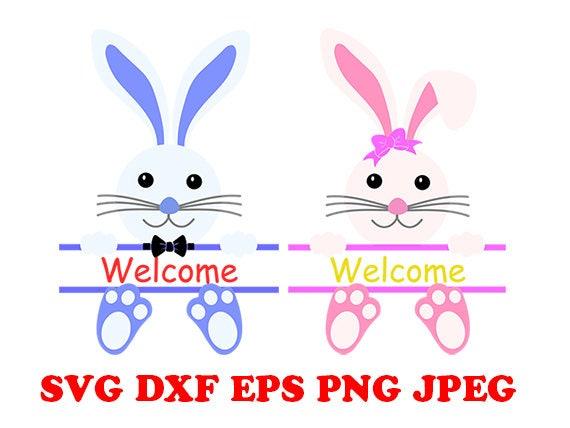 Bunny frame svg, bunny svg, bunny easter svg, easter svg, girl svg ...
