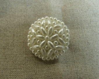 Mother of Pearl beaded tail ROSETTE button/jewelry