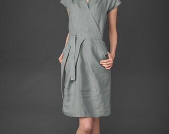 Linen women dress, Pure linen dress, Grey dress, Linen Dress, Linen clothing, linen clothes, Organic Linen Dress