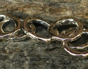 SIX Artisan Closed Jump Ring Links in Sterling Silver L-248/6