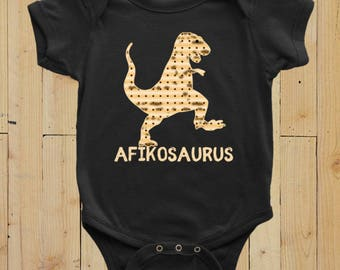 Passover Baby Bodysuit Clothing Dinosaur Matzah Afikoman Outfit Infant Clothes Playsuit Jewish Gifts for Children One Piece Romper