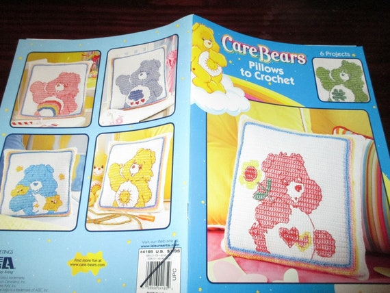 Character Pillow Crochet Pattern Leaflet Care Bears Pillows Leisure