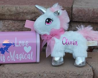 Valentine's gift set.Unicorn gift.Personalized gift set.Personalized Valentine's Day gifts.Personalized unicorn unicorn. birthday gift.