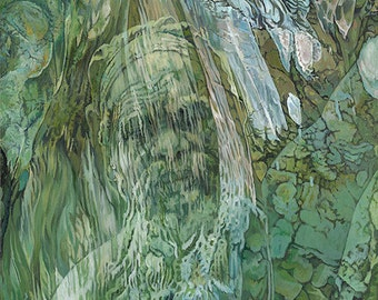 River Dreaming, The Land Remembers - Ltd Ed. Giclée Art Print on Canvas by Jane Nicol
