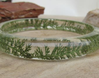 nature bracelet, nature jewelry, resin jewelry, leaf bracelet, botanical bracelet, real plant bracelet, woodland bracelet, bangle bracelet