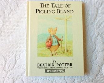 The Tale of Pigling Bland Beatrix Potter Book, vintage Beatrix Potter F. Warne