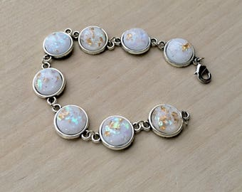 arrival fashion sterling silver engagement item white wedding opal women bracelet for jewelry simple