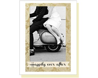Happily Ever After Wedding Card, Congratulations Card