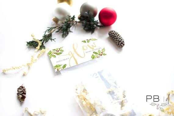 Holiday GLOW Mini Facial Kit | Skincare, Rodan+Fields, gift, teacher, friend, co-worker, Santa, vintage, chapstick, lip balm