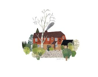 HOUSE PORTRAIT: Original Papercut Illustration