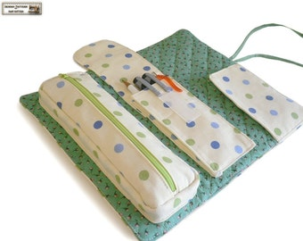 Roll organizer sewing pattern/tutorial, makeup bag pattern, cosmetics bag pattern  --- PDF