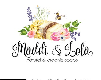 Soap Logo - Premade Watercolor Logo, Soap Logo, Bath Body Logo, Premade Logo, Watercolour Logo, Custom Logo, Business Logo