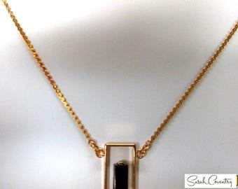 ANTIQUE Sarah Coventry Jewelry -  Genuine Tigereye Pendant  #8873