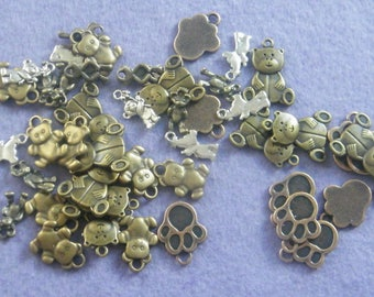 Teddy Bear Charms - A Pack Of 50 Charms