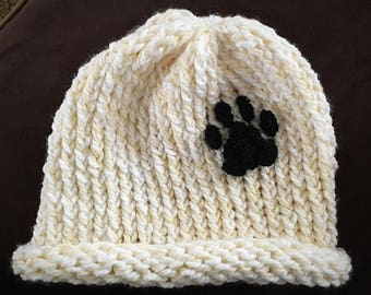 Paw Print Scarf and Paw Print Hat