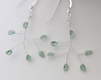 Branch Earrings Line Aquamarine