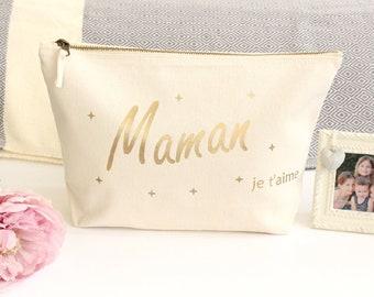 Large MOM customizable makeup case