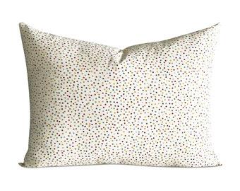 "Funfetti Polka Dot Standard Sham Pillow Cover 20"" x 26"""