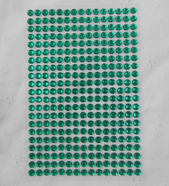 Verde acrílico Flatback diamantes de imitación de 315 por paquete ...