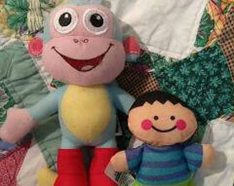Dora the explorer Monkey and Fisher Price Boy Doll