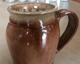 Pottery Mug, Handmade Large Pottery Mug, Handthrown  Mug, 16 oz Mug, Stoneware Mug, Handmade Mug, Wheel Thrown Mug, Coffee Mug