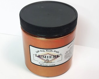 Lumiere Burnt Orange 543 - 8 oz Size - Brilliant Light Body Metallic Acrylic Paint - Art Craft Fabric Canvas Wood Paper Pearl Finish
