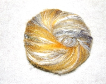 Wool, Silk, firestar blend Hand Dyed