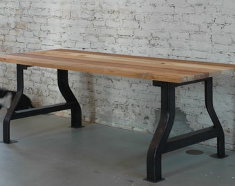Customizable reclaimed wood conference table or work desk by moss Design