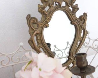 Mirror Mirrors Mirror Mirror vintage brassed candlestick