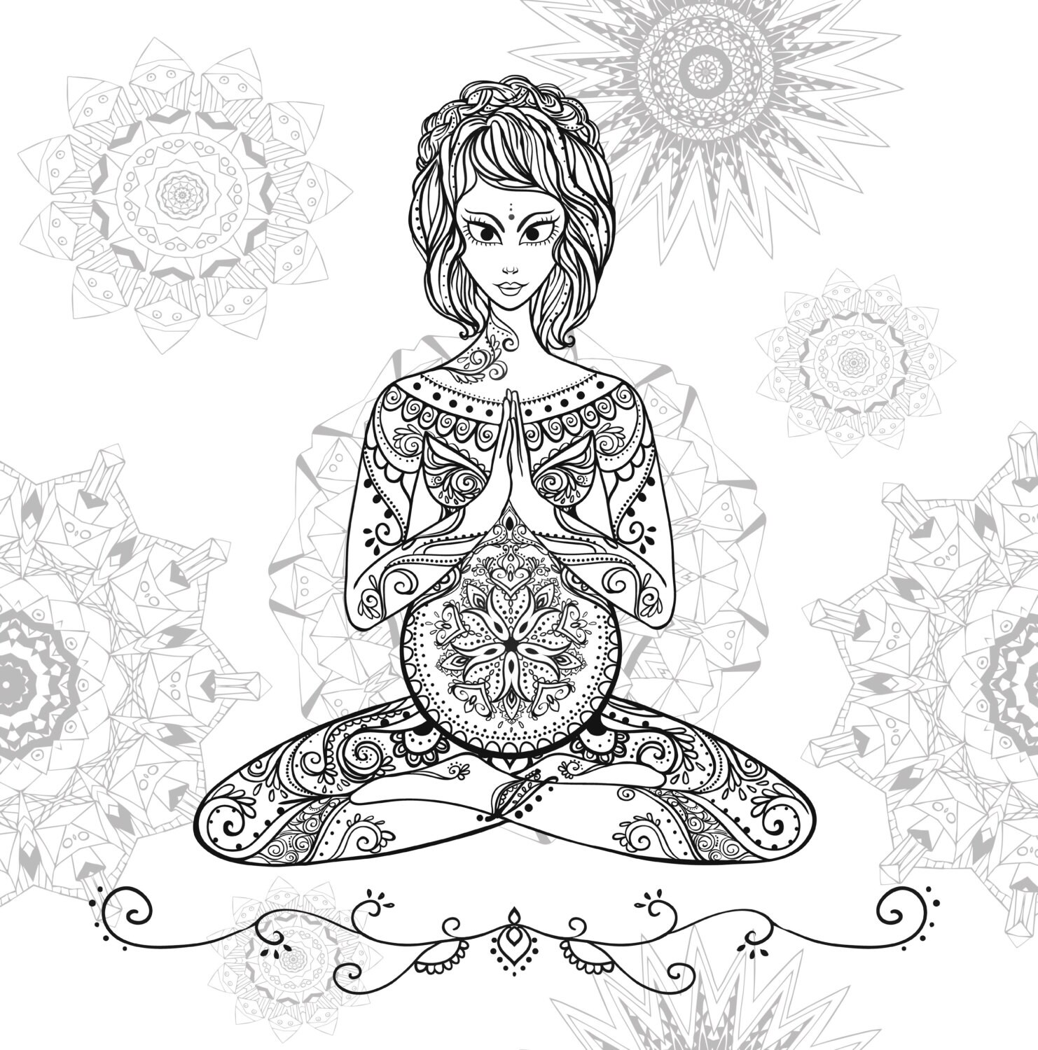 pregnancy coloring pages - Selo.l-ink.co