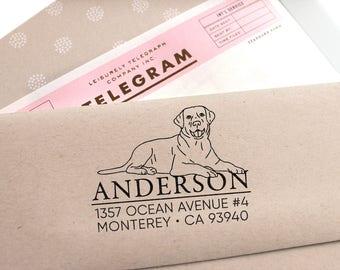 Custom Address Stamp - Labrador Retriever Return Address Stamp, Holiday Gift,  Dog Address Stamp, Wedding Gift, Self Inking Rubber Stamp