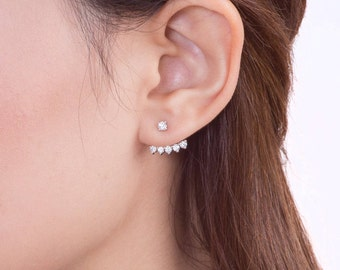 Floating Stars Diamond Ear Jacket