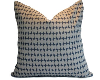 DwellStudio Pillow Cover Almonds Mineral Blue
