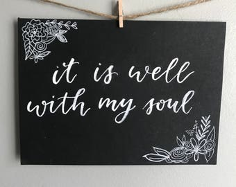 watercolor print • it is well with my soul • 5 x 7 print