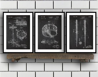 Drum wall art etsy drum patents set of 3 prints drum prints drum posters drum blueprints malvernweather Image collections