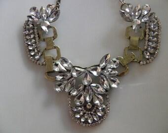 Chunky Bold Spectacular Rhinestone Glamour Necklace