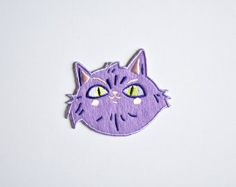 Miss Mauve // Sassy Cat Patch // Iron on Patch // Cat Patch // Funny Cat Patch // Cute Cat Patch // Illustrated Cat // Cat Lover