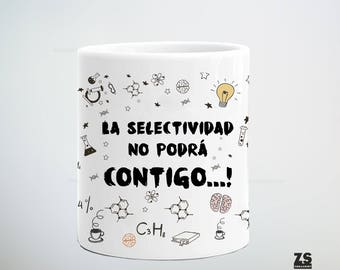 University mug, Selectivity will not beat you, Christmas student, studies, student mug, controls, tests, university gift, bachelor gift