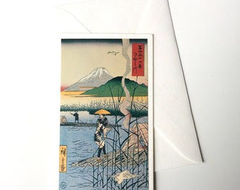 Card and envelope, pattern Japanese traditional UKIYOE FUJIYAMA (F1316)