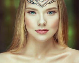Wedding tiara - bridal diadem - Elven crown - Jewelry Diadem – fantasy circlet  fairy Tiara  bridal headband - fantasy fairy Tiara - Nimueh