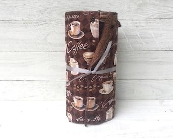Unpaper towels, reusable paper towels, cloth paper towels, snapping paper towels - Coffee // gift // kitchen // eco friendly // housewarming