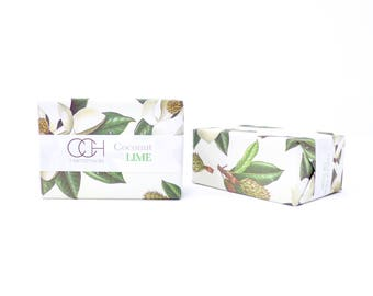 Coconut Lime Bar Soap - 4 Bar Collection FREE Shipping