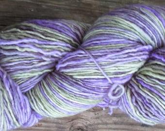 "Texas Two Step Sock Yarn ""Green Violet"" by Plain & Fancy"
