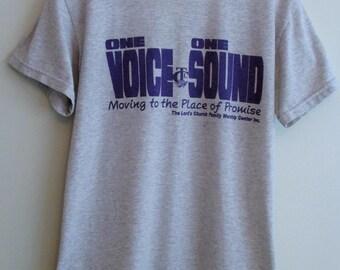 90's 'One Voice One Sound' Grey T-Shirt