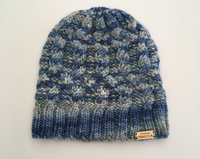 100% Merino Wool hand knit child Hat